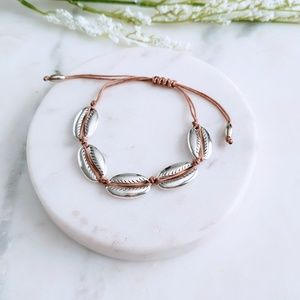 Jewelry - 5 for $25 Silver Sea Shell Adjustable Bracelet